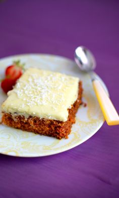 Tiinan mehevä porkkanakakku   Maku Cheesecake, Deserts, Food And Drink, Pie, Baking, Party, Recipes, Koti, Style