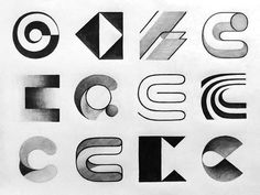Monogram (C) exploration sketches created by David D. Hashtag to show your work! David D, Grid Layouts, Logo Design, Graphic Design, Typography, Lettering, Creative Logo, Letter Logo, Sculptures
