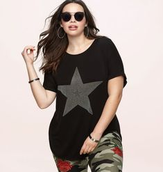 2a0a0325c Mix some casual concert tees into your wardrobe with this plus size ...