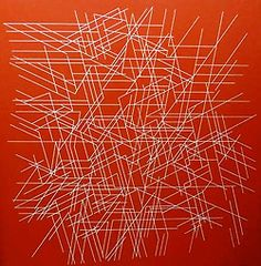 Palazuelo, Pablo (1916-2007) - 1997 Minos II (Private Collection) by RasMarley on Flickr. Abstract Geometric Art, Contemporary Abstract Art, Modern Art, Art Espagnole, Colour Story, Spanish Art, Orange Art, Visual Texture, Spanish Painters