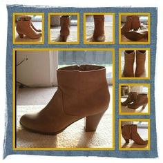 Woman's Camel Tan Boots Size 10 M  Like New Woman's Boots Size 10 Medium, Tan Color, Worn One Time, Zipper On Side Very Comfortable & Stylish There's A Knick On The Back Of One Boot From Being In Storage  NO TRADES  NO PayPal  NO LOWBALLING PRICE IS FIRM  Style & Co Shoes