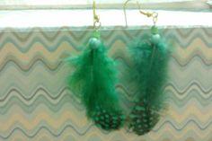 DIY Feather earrings