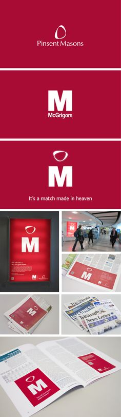 We make it a match made in heaven. The merger of the law firm McGrigor's into Pinsent Masons was a good news story in many ways but change can also be unsettling for some. Our job was to reassure internal and external audiences that the newly combined firm is even better together.