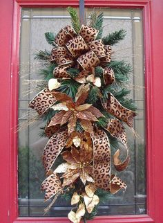 Exact leopard ribbon I use on my tree, so I'm in love with this...