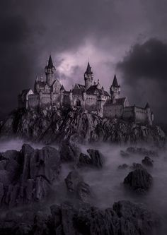 Dark Castle // Per Lindberg Gothic Castle, Dark Castle, Fantasy Castle, Medieval Castle, Fantasy Places, Fantasy World, Dark Fantasy, Dark Gothic, Gothic Art