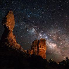 Nighttime sky, Arches National Park, Utah