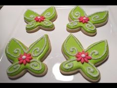 PART 2 Tinkerbell Cookies Style 1 (How To) - YouTube