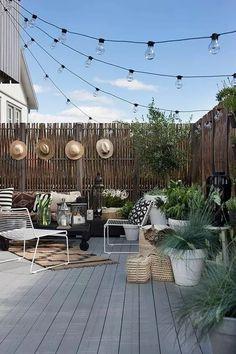 Super Backyard Ideas For Small Yards Diy Patio Ideas Backyard Ideas For Small Yards, Small Backyard Landscaping, Small Patio, Landscaping Ideas, Small Pergola, Small Terrace, Tiny Balcony, Balcony Deck, Small Balconies