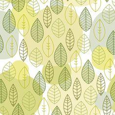 Leaf pattern Art Print by kondratya | Society6