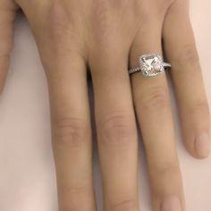 I neeeeeeeed!    Morganite Ring 1.70 carats Natural Cushion Cut Halo by ldiamonds, $899.00