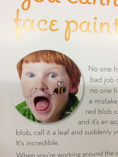Face paint, inspiration photo