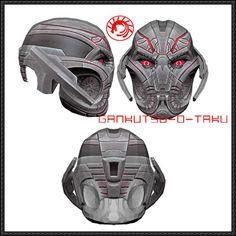 Avengers - Ultron Prime Helmet Ver.2 Free Papercraft Download - http://www.papercraftsquare.com/avengers-ultron-prime-helmet-ver-2-free-papercraft-download.html