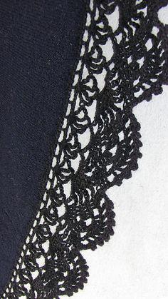 Lace edging pattern by MYpicot odkaz na další vzory okrajů