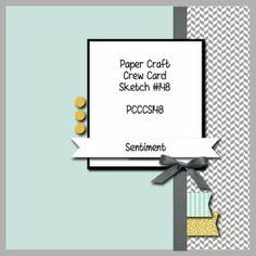 Paper Craft Crew Card Sketch 148. #stampinup #papercraftcrew