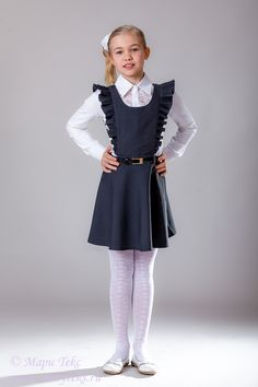 School Uniform Fashion, Back To School Fashion, Young Girl Fashion, Tween Fashion, Dance Outfits, Modest Outfits, Dresses For Tweens, Girls Dresses, Little Girl Outfits