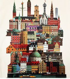 Trying to collect different illustrations of cities and countries here. Copenhagen Design, Copenhagen Style, Alaska, Square Photos, Flash Photography, Photo Checks, Skagen, Whimsical Art, Interactive Design