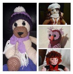 Háčkovaný medvídek na objednání, jako krásný dárek Origami, Crochet Hats, Teddy Bear, Toys, Animals, Knitting Hats, Activity Toys, Animales, Animaux