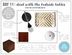 30 Day Design Challenge: Day 11 Deal with the Bedside Tables, bedroom decor ideas, nightstand, bedroom organization