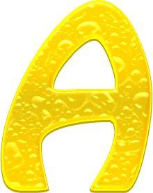 Alfabeto Decorativo: Alfabeto - Gelatina - PNG - Maiúsculas e Minúscula...