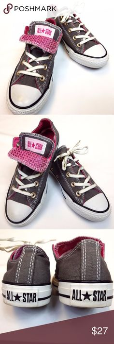 Converse Double Tongue Low Top Shoe in Grey  amp  Pink WOMEN S CHUCK TAYLOR  ALL STAR be43846fd