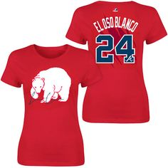 Atlanta Braves El Oso Blanco Name & Number Womens T-Shirt - MLB.com Shop. I LOVE me some Evan Gattis...!