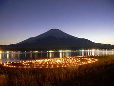 アイスキャンドルと富士