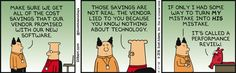 A System For Transferring Mistakes - Dilbert by Scott Adams