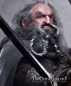 John Callen - Oin, elder brother of Gloin, direct descendant of Nain II, one of the kings of Durin's Folk. He's using ear trumpet.