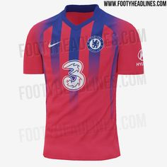 Third shirt 2020/21 Chelsea News, Chelsea Fc, Camisa Do Chelsea, Blue Socks, Football Kits, Red Shorts, Blue Stripes, Air Max Sneakers, Red And Blue