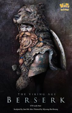 Inspiration for Lloberu. Viking Berserk bust by NutsPlanet.