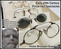 Early 20th Century Pince-nez Spectacles  from the HBE vault.   www.HicksBrunson.com