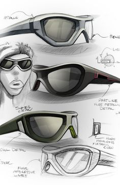 Sketches we like / Glases / Digital Sketch / Touchup / Render /  Wacom /