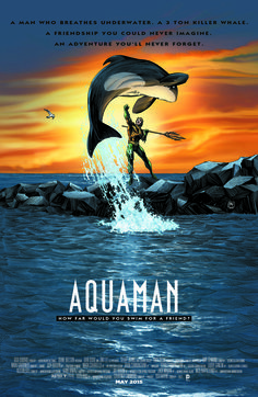 AQUAMAN #40 inspired by FREE WILLY, with cover art by Richard Horie