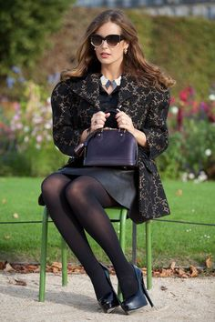 """""""Josie loves""""... the iconic Louis Vuitton Alma handbag, here in the Jardin des Tuileries. (Photography by Christoph Eichhorn via http://www.josieloves.de)"""