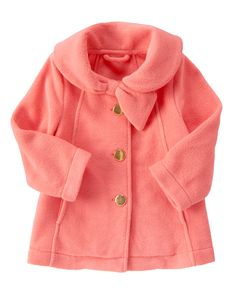 Need to use this giftcard... Polar Fleece Swing Coat at Gymboree, in this sugar pink or in gray