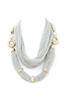 Mesh Taylor Necklace in Silver on Emma Stine Limited