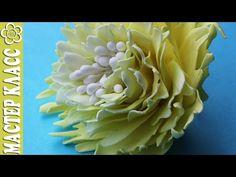 Пион из фома видео урок / Kulikova - YouTube