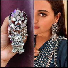 Items similar to Indian Afghani Oxidised Jhumka Statement Earrings on Etsy Indian Jewelry Earrings, Indian Jewelry Sets, Silver Jewellery Indian, Jewelry Design Earrings, Silver Earrings, Silver Jewelry, Ear Jewelry, Designer Earrings, Fashion Earrings