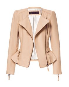 LEATHER JACKET WITH RUFFLE DETAIL - Blazers - Woman - ZARA United States ($249.00) - Svpply