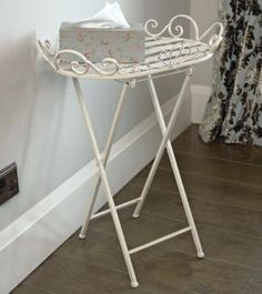 Ivory butler table/tray