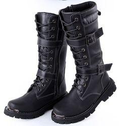 Kleidung & Accessoires Mens Base London Zinc Plain Black Leather Buckle Zip Up Casual Motor Ankle Boots Angenehme SüßE