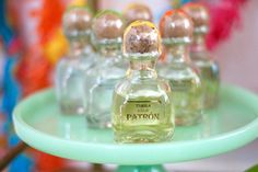 Cinco de Mayo Bar Cart: Mini Patron Bottles: AMarriedAdventure.com