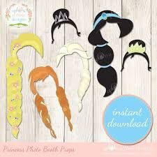 Image result for disney princess photo booth props FREE