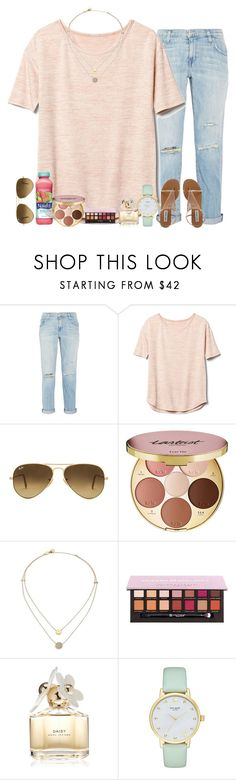 """i spy with my little eye"" by alexislynea-804 ❤ liked on Polyvore featuring Current/Elliott, Gap, Ray-Ban, tarte, Mangosteen, Michael Kors, Marc Jacobs and Kate Spade"