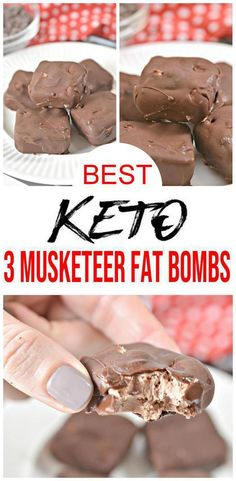 keto dessert Super tasty Keto 3 Musketeer Candy Fat Bombs you wont be able to stop eating. A NO BAKE keto candy fat bomb that you can mix up super quick. No need to give up candy on a ket Ketogenic Diet Meal Plan, Keto Meal Plan, Ketogenic Recipes, Low Carb Recipes, Diet Recipes, Healthy Recipes, Ketogenic Girl, Ketogenic Breakfast, Snacks Recipes