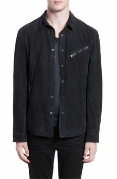 Main Image - John Varvatos Suede Shirt Jacket