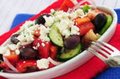 Great salad for parties accompanied by warm French or Italian bread chunks.   This is wonderful as is.  I usually take it to potucks with a variety of other dishes.  It goes well with a baguette or ciabatta or focaccia.