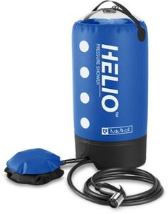 NEMO Helio Pressure Shower There's nothing like a refreshing shower after a muddy mountain bike ride or hot, dusty hike. Use the freestanding NEMO Helio™ Pressure Shower to clean up as soon as you're back at the car.