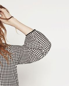 Image 6 of GINGHAM BLOUSE from Zara