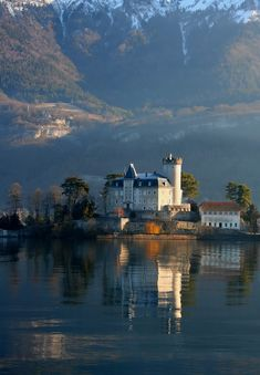 Chateau de Duingt, France (by snowyturner)